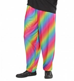 Plus size 80s baggy rainbow trousers (9877)